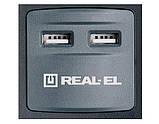 Фильтр-удлинитель REAL-EL RS-8F USB CHARGE 3 метра c USB зарядным (8 розеток + 2 USB), фото 3