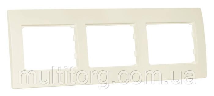Рамка SVEN SE-300 трехместная кремовая