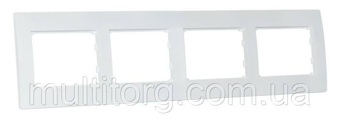 Рамка SVEN SE-400 четырехместная белая