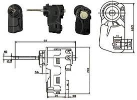 Корректор фары для Hyundai, Kia (DEPO)