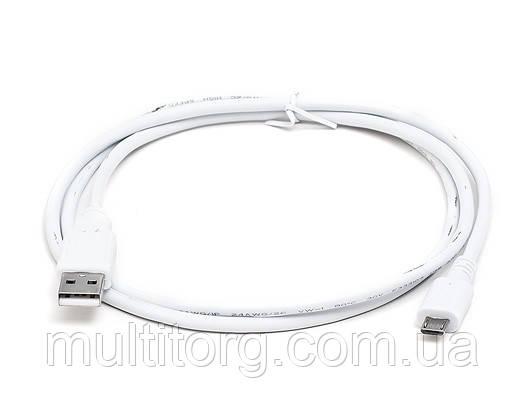 Кабель REAL-EL USB2.0 microUSB type B 1m белый