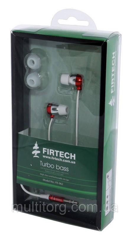 Наушники-вкладыши Firtech FE-062 красные уценка