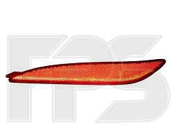 Фонарь задний для Hyundai Elantra '11- левый (DEPO) в бампер, катафот