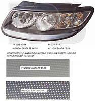 Фара передняя для Hyundai Santa Fe '06-09 правая (DEPO) под электрокорректор