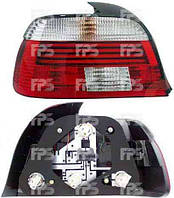 Фонарь задний для BMW5 E39 '96-03 правый (HELLA) красно-белый, Led габарит