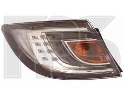 Фонарь задний для Mazda 6 хетчбек/седан '08-10 левый (DEPO) внешний, белый Led