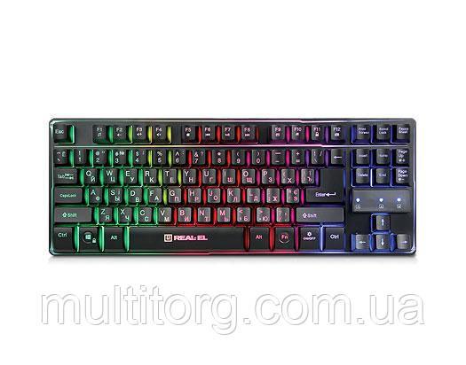 Клавіатура REAL-EL Gaming 8710 TKL Backlit USB ігрова з підсвічуванням