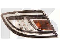 Фонарь задний для Mazda 6 хетчбек/седан '10- левый (DEPO) внешний, белый Led