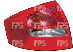 Фонарь задний для Audi A6 седан '01-05 левый (HELLA) зад ход красно-белый