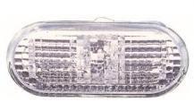 Указатель поворота на крыле Volkswagen Polo '09- хетчбек левый/правый, белый (рифленый, с белый вставкой)
