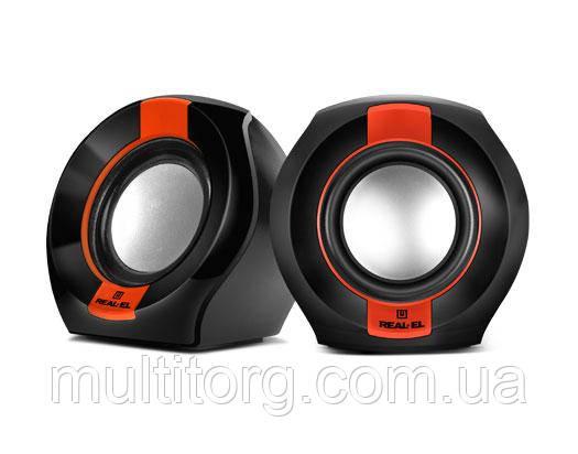 Колонки REAL-EL S-50 black-red