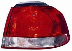 Фонарь задний для Volkswagen Golf VI хетчбек '09- левый (DEPO) внешний, светло-красный