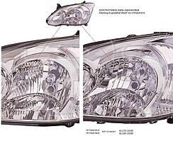 Фара передняя для Toyota Corolla '05-07 правая (DEPO) под электрокорректор