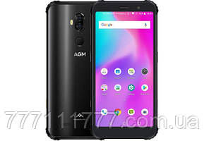 Смартфон защищенный с мощной батареей, большим экраном и двойной камерой на 2 сим карты AGM X3 black 8/64 NFC