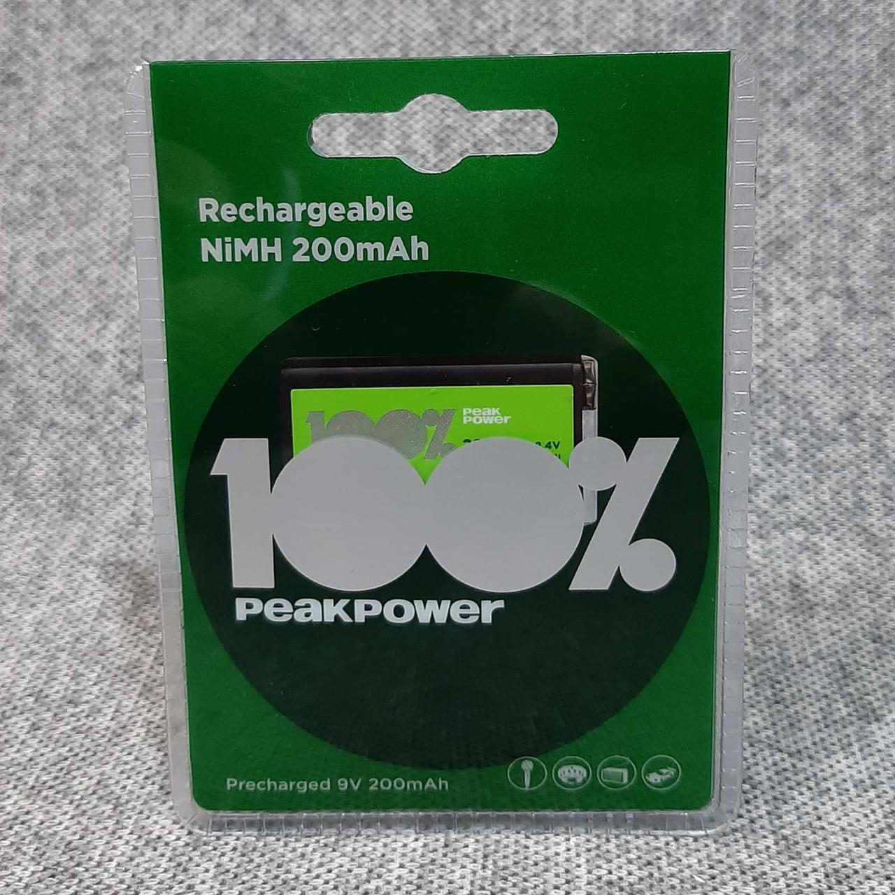 Акумулятор крона GP peak power 200 mAh