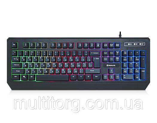 Клавиатура REAL-EL Comfort 7001 Backlit с подсветкой уценка