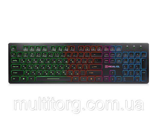 Клавиатура REAL-EL Comfort 7070 Backlit черная уценка