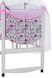 Детская постель Babyroom Classic Bortiki-01 (8 элементов)  розовый (коты), фото 3