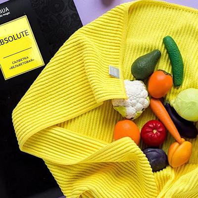 Салфетка в рубчик для кухни Гринвей