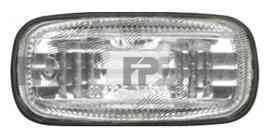 Указатель поворота на крыле Nissan Almera Classic 06-13 левый и правый, белый (прозрачный) (DEPO)