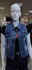 Пиджак джинсовый женский S, WFA SNIONSML, Темно-синий