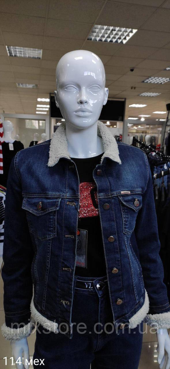 Куртка-пиджак джинсовый женский DAPPER копия класса люкс