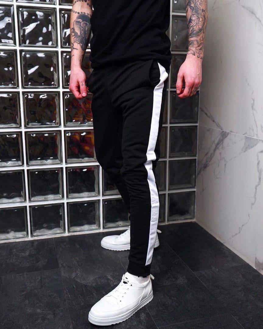 Мужские штаны, двунить, р-р 44-46; 48-50; 52-54 (чёрный)