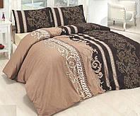 Комплект постельного белья двуспальное евро 200*220 простынь на резинке (14582) бязь Ранфорс