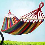 Гамак мексиканский подвесной с деревянной планкой 200x80 см.Лежак с перекладиной,тканевый,для дома,дачи,сада, фото 7