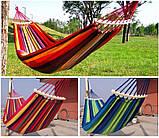 Гамак мексиканский подвесной с деревянной планкой 200x80 см.Лежак с перекладиной,тканевый,для дома,дачи,сада, фото 10