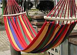 Гамак мексиканский подвесной с деревянной планкой 200x80 см.Лежак с перекладиной,тканевый,для дома,дачи,сада, фото 9