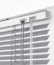 Жалюзи горизонтальные Platogor, 25 мм, классические, алюминиевые, белые, с фиксацией