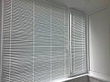 Жалюзи горизонтальные Platogor, 25 мм, классические, алюминиевые, белые, с фиксацией, фото 5