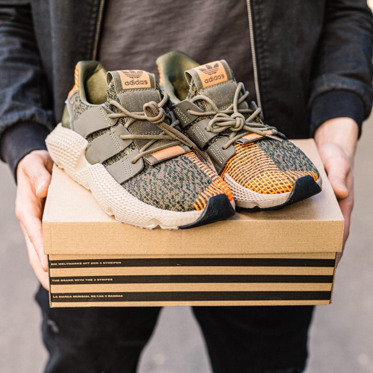 Мужские кроссовки Adidas Prophere Green-Orange, Реплика