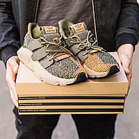 Мужские кроссовки Adidas Prophere Green-Orange, Реплика, фото 1