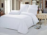 Комплект постельного белья двуспальное евро 200*220 простынь на резинке (14588) бязь Ранфорс