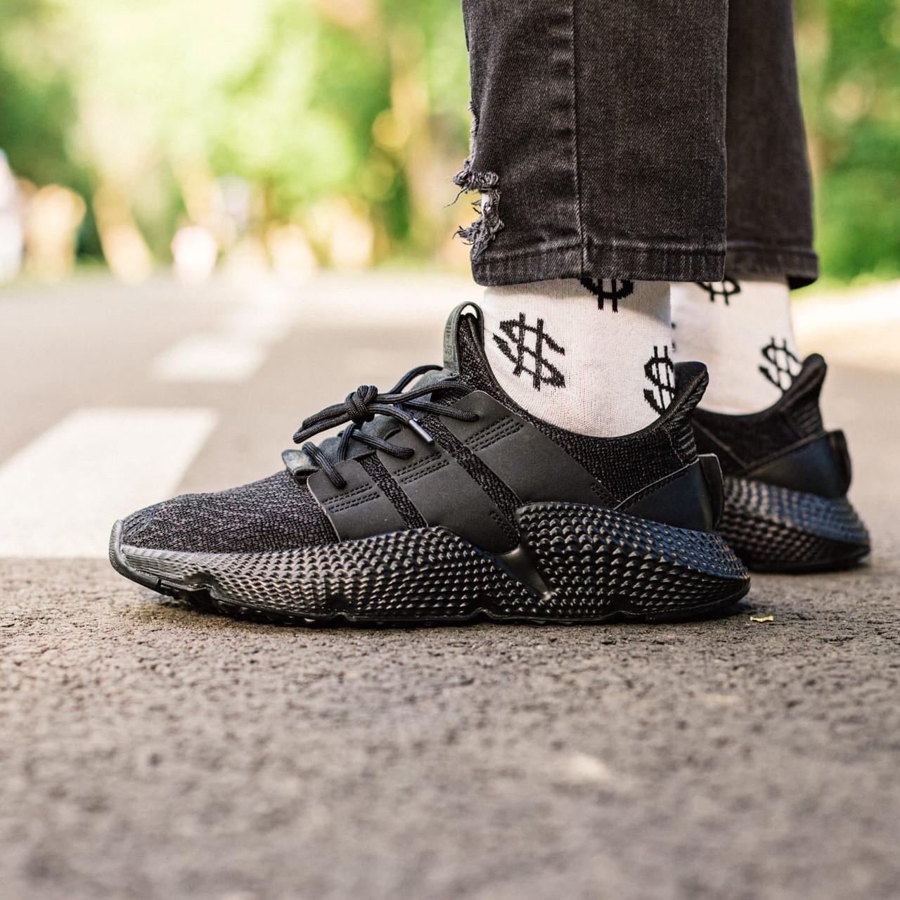 Чоловічі кросівки Adidas Prophere All Black, Репліка