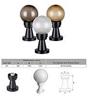 """Світильник вуличний NF30""""Стовпчик"""" 15см і куля φ150 золото призматик IP44, фото 2"""