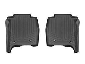 Ковры резиновые WeatherTech Range Rover  LONG 2013-2018 задние черные ( с консолью )