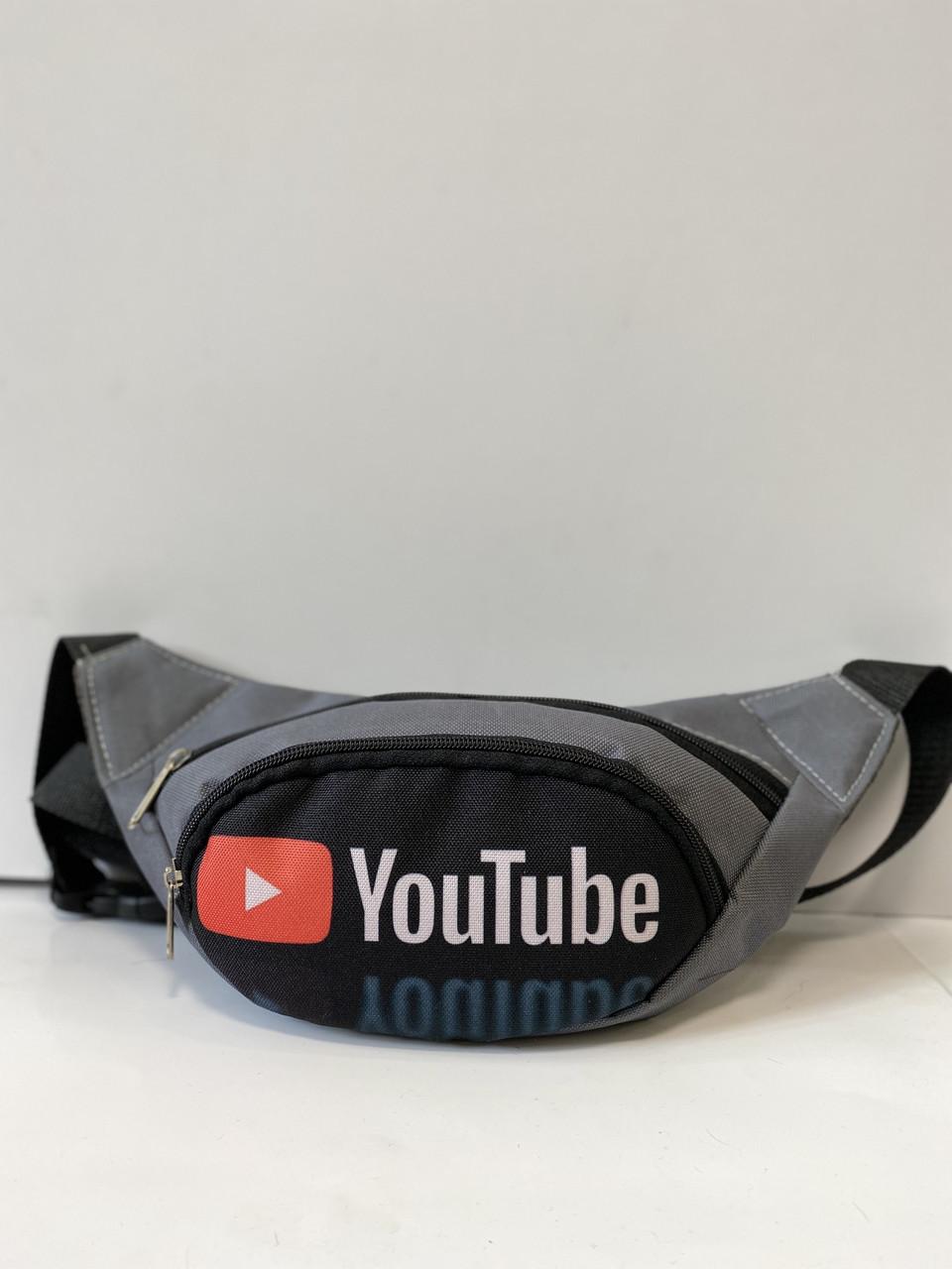 Поясная сумка Бананка сумка на пояс тканевая с ярким принтом молодежная ютуб
