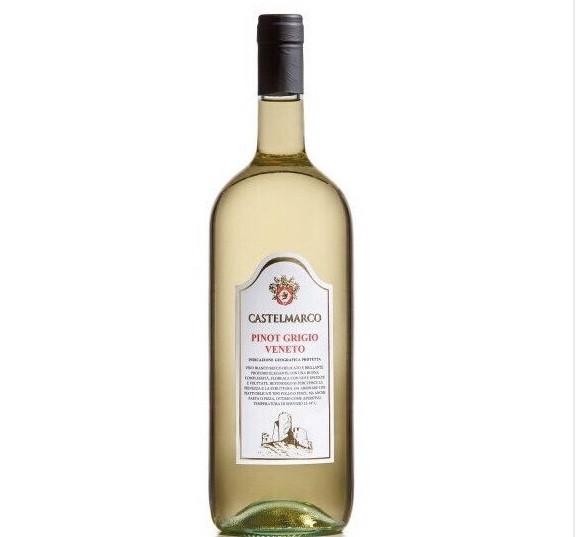Вино біле сухе Pinot Grigio Veneto Castelmarco (Піно Гріджіо Венето) 1.5L