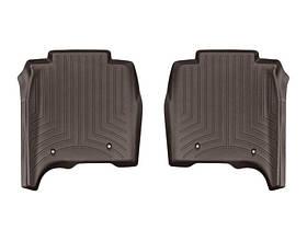 Ковры резиновые WeatherTech Range Rover  LONG  2013-2018 задние какао ( с консолью )