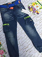 Джинсы подростковые на мальчика S&D с карманами 4-12 лет