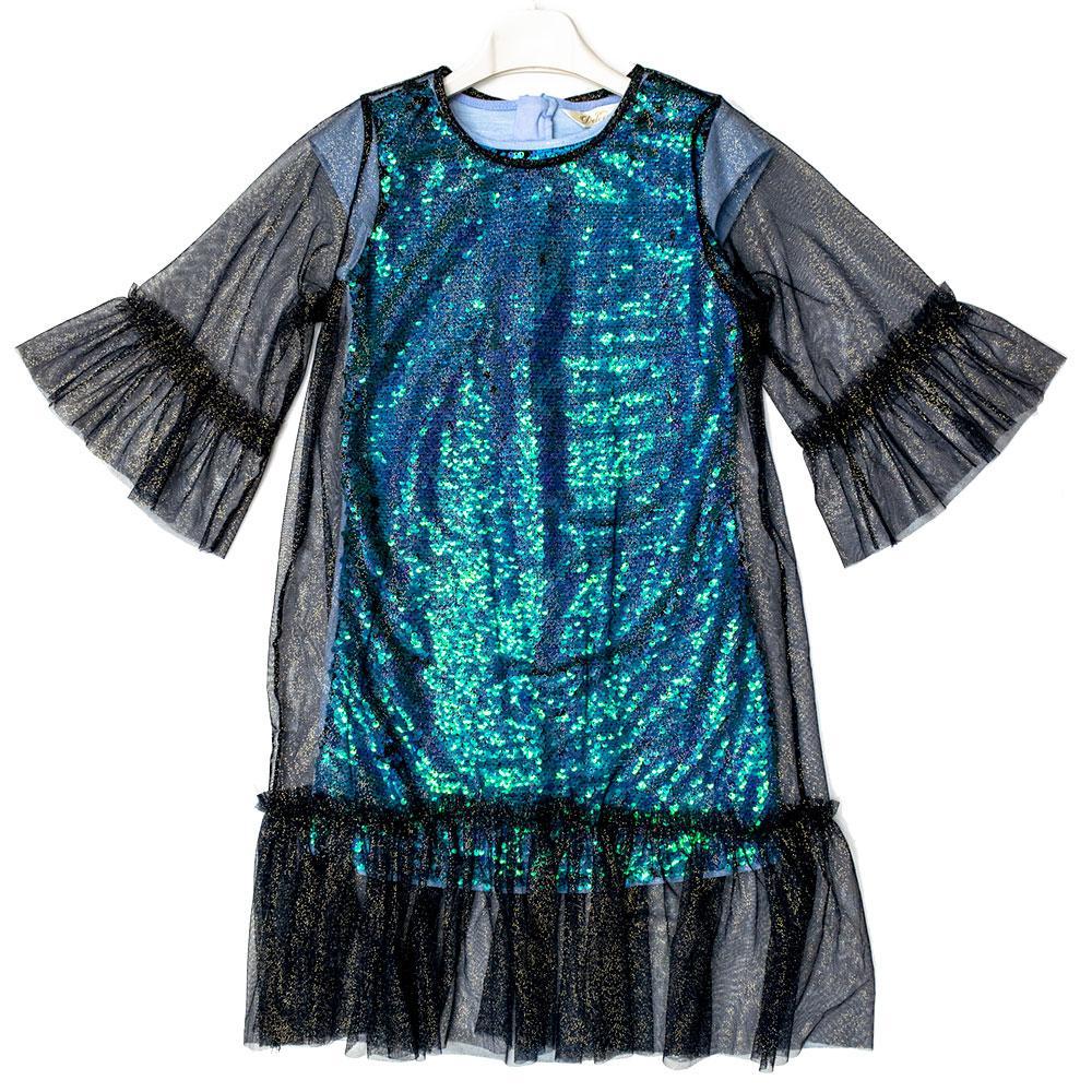 Платье для девочек Deloras 128  синее 29984