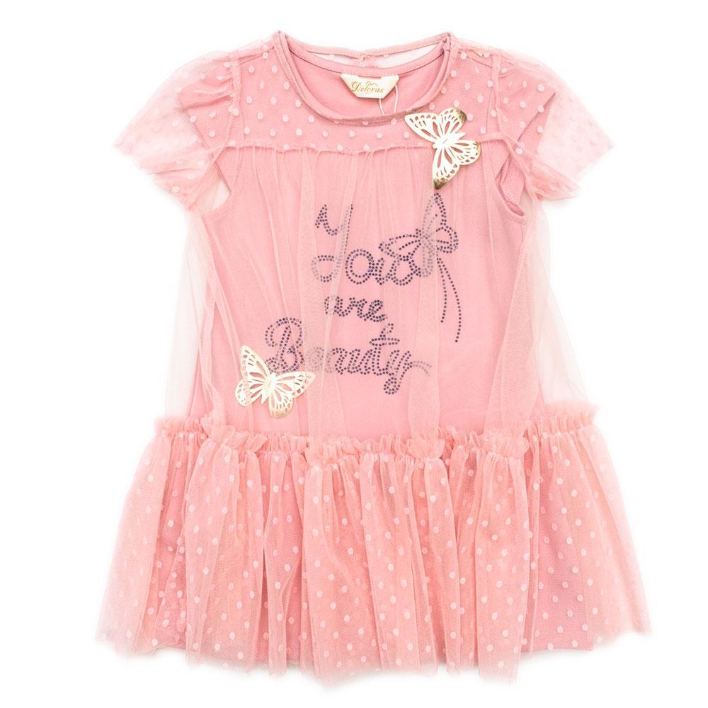 Платье для девочек Deloras 104  розовое 18117F