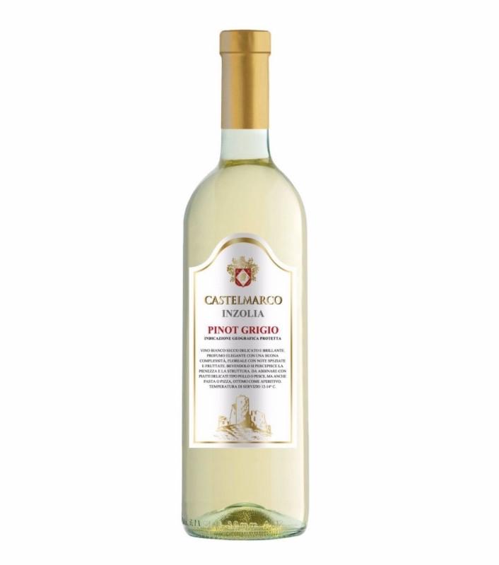 Вино біле сухе 0,75L Pinot Grigio Castelmarco (Піно Гріджіо)