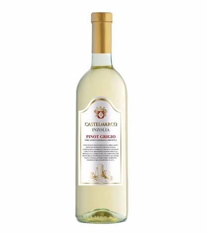 Вино біле сухе 0,75L Pinot Grigio Castelmarco (Піно Гріджіо), фото 2