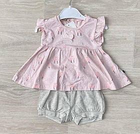 Комплект для девочки на лето с платьем