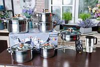 Набор посуды Krauff 12 предметов, в подарок Термокружка Krauff SKL42-229233