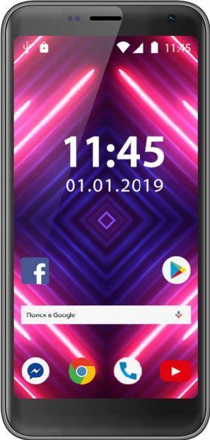 """Смартфон с двойной камерой и сканером отпечатков пальцев с 4G 4,95"""" 1/16Gb Assistant AS-401L черный"""